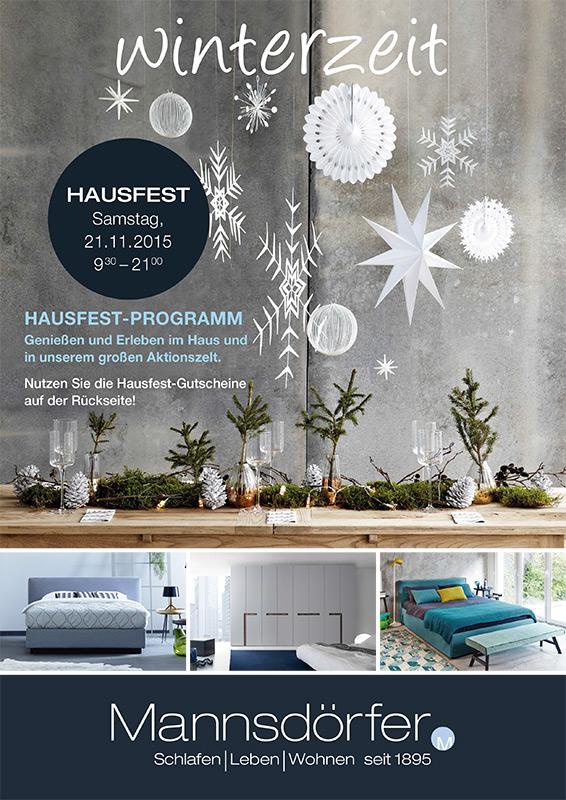 Titelseite des Hausfest Prospekt 2015