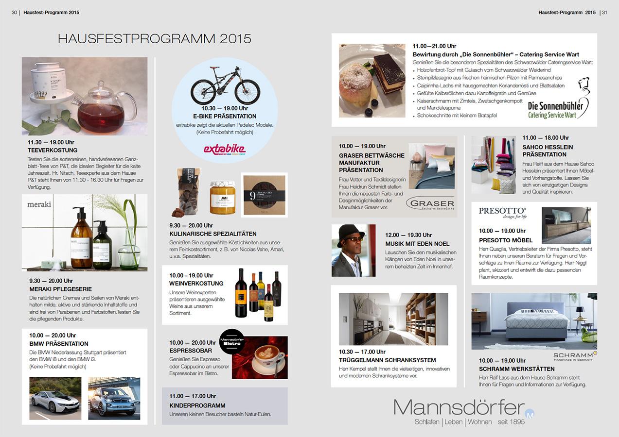 Programm Hausfest 2015