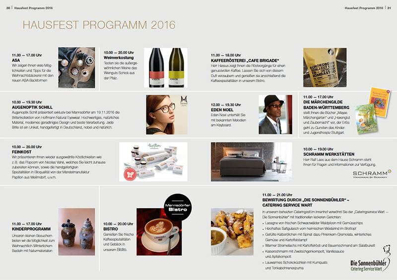 Titelseite des Hausfest Prospekt 2016
