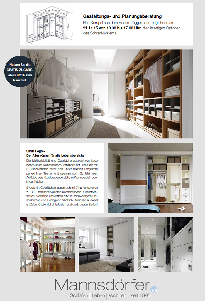 hausfest am 21 november 2015 mannsd rfer gmbh. Black Bedroom Furniture Sets. Home Design Ideas