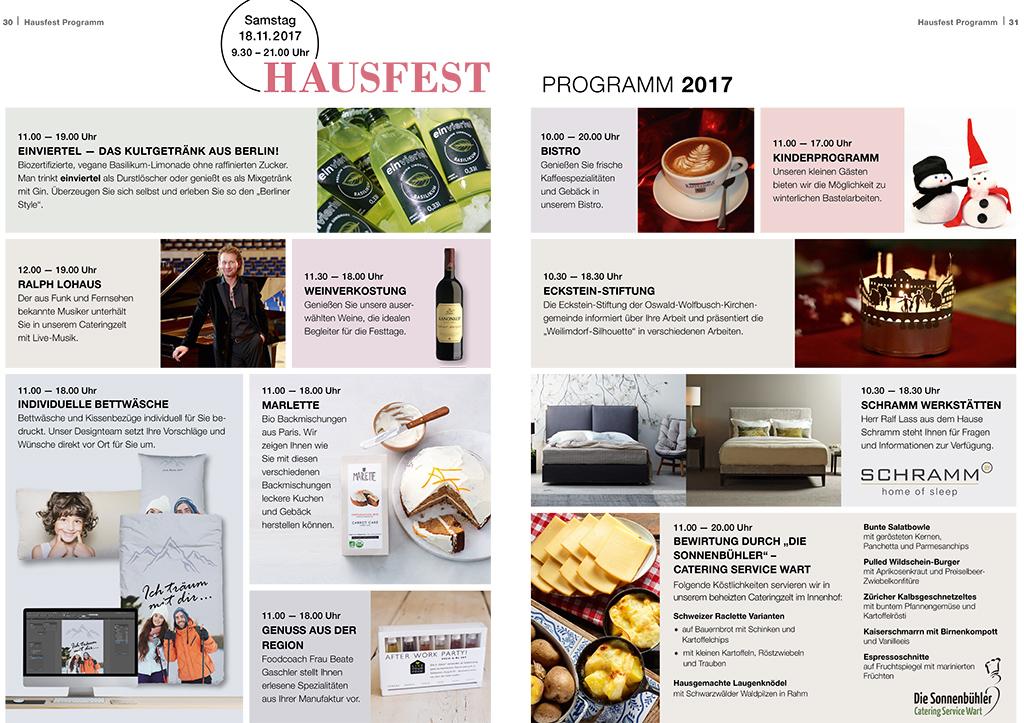 Programm Hausfest 2017