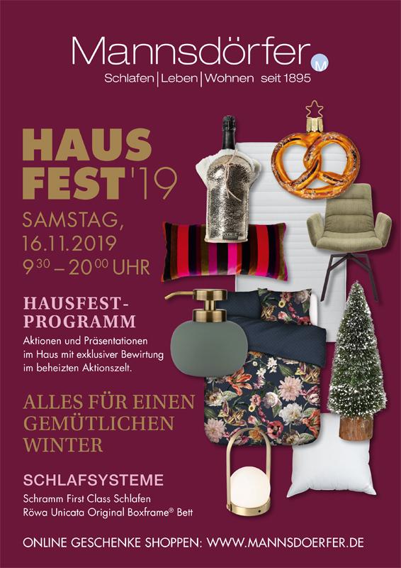 Titelbild Prospekt Hausfest 2019