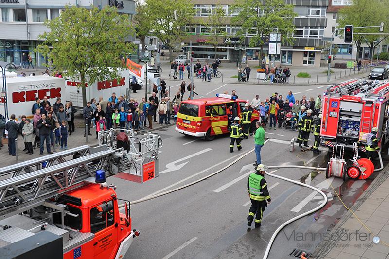 Schauübung der Feuerwehr Weilimdorf an unserem Haus