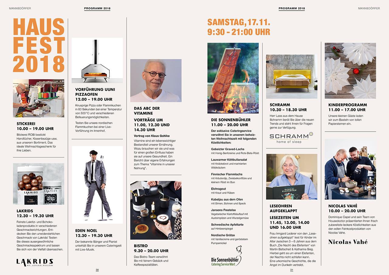 Hausfest Programm 2018