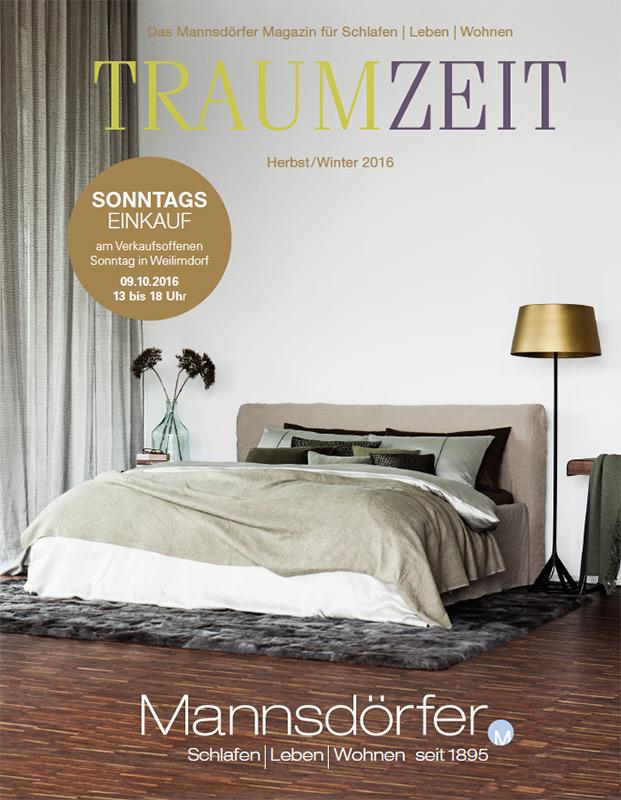 Cover des TRAUMZEIT Magazin Herbst/Winter 2016